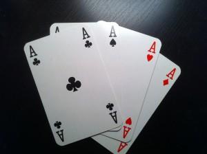 Mit vier Assen ist man auf der Gewinnerseite