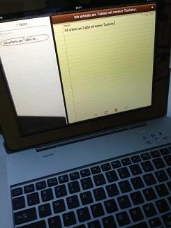 iPad mit Tastatur