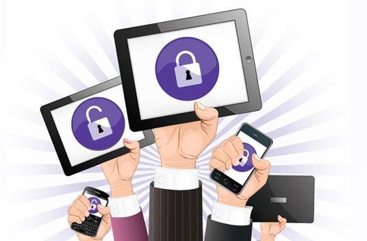 Sicherheit der Daten des Mobilgerätes